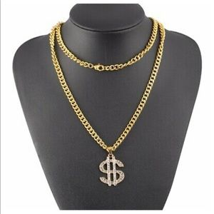 Other - Dollar sign cuban thug link necklace